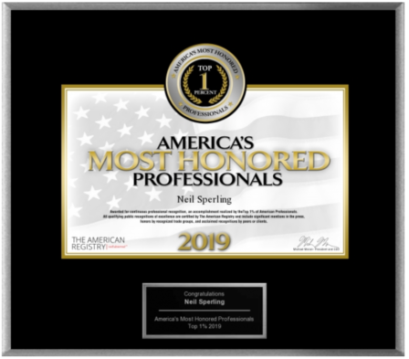 America's Most Honored Professional 2019