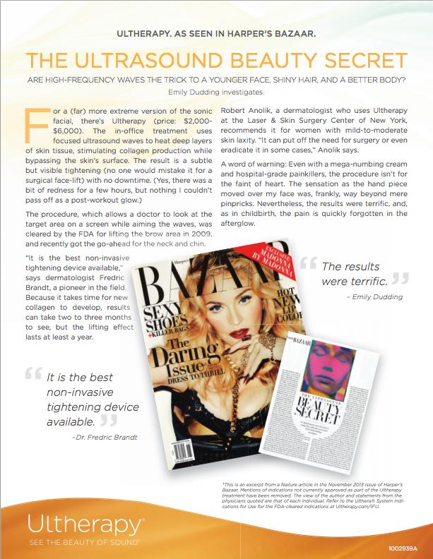 Ultherapy Harper's Bazaar