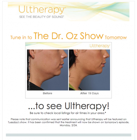 Ultherapy on Dr. Oz